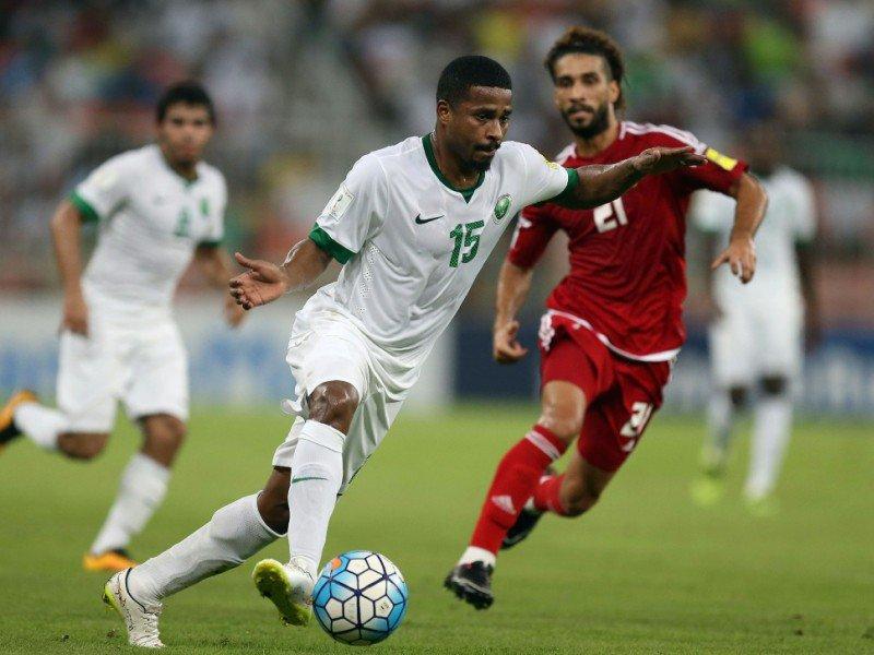 Une scène du match Arabie saoudite - Emirats arabes unis, le 11 octobre 2016 à Jeddah    STRINGER [AFP/Archives]