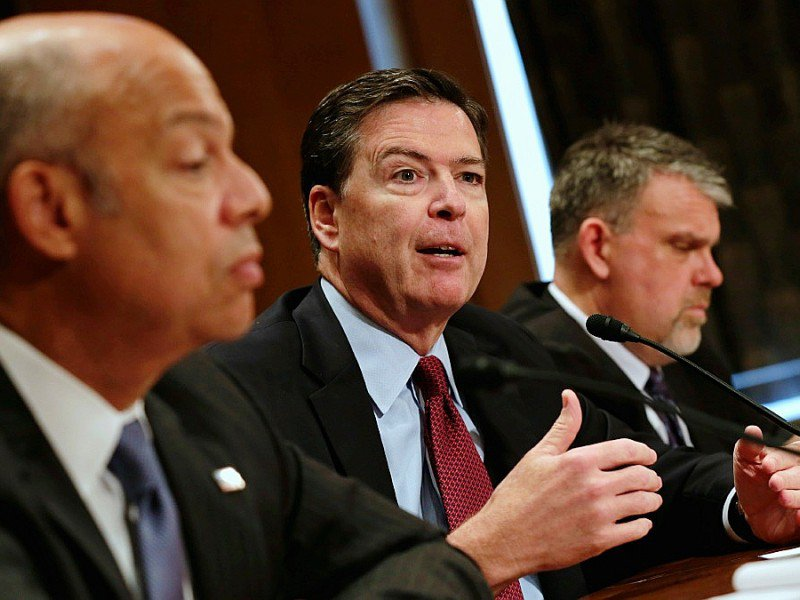 """Jeh Johnson And James Comey Testify At Hearing on """"Fifteen Years After 9/11: Threats to the Homeland - YURI GRIPAS [AFP]"""