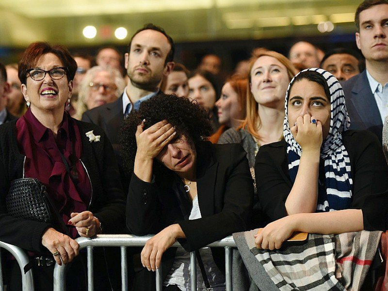 Les partisans de Hillary Clinton le 8 novembre 2016 au Javits Convention Center à New York    © DON EMMERT [AFP]