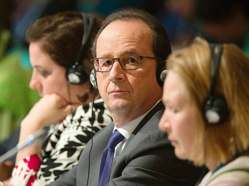 François Hollande lors de la COP22 le 15 novembre 2016 à Marrakech - FADEL SENNA [AFP]