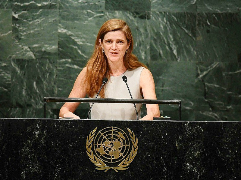 L'ambassadrice américaine auprès des Nations unies, Samantha Power, le 13 octobre 2016 aux Nations unies à New York    Jewel SAMAD [AFP]