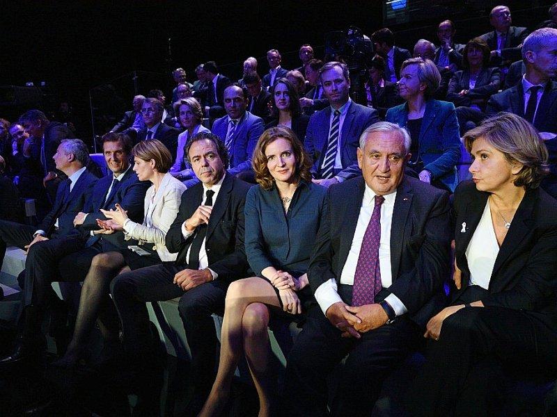 De GàD: Luc Chatel, Nathalie Kosciusko-Morizet, Jean-Pierre Raffarin et Valérie Pécresse lors du débat télévisé de l'entre-deux-tours de la primaire de la droite et du centre le 24 novembre 2016 à Paris    ERIC FEFERBERG [POOL/AFP]