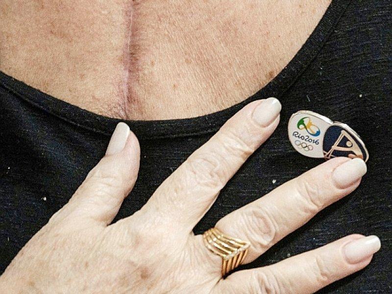 Ivonette Balthazar au coeur transplanté d'un sportif allemand à Rio de Janeiro, le 25 novembre 2016 - YASUYOSHI CHIBA [AFP]