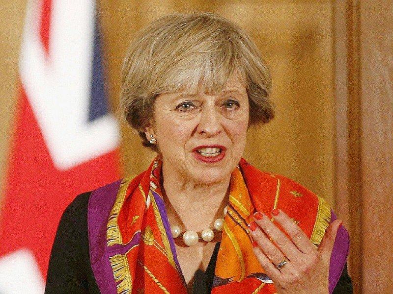 La Première ministre britannique Theresa May, le 28 novembre 2016 à Londres    PETER NICHOLLS [POOL/AFP/Archives]