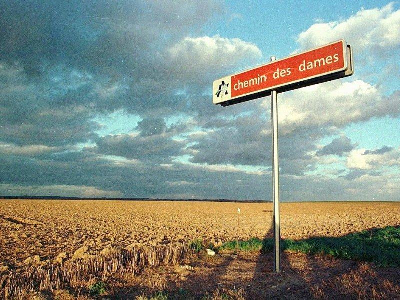 En 1917, la bataille du Chemin des Dames, entre Laon et Reims, fit 350.000 victimes - ALAIN JULIEN [AFP/Archives]