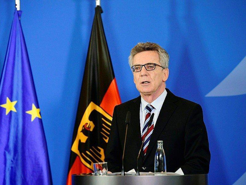 Le ministre allemand de l'Intérieur Thomas de Maizière lors d'une conférence de presse à Berlin, le 23 décembre 2016    Tobias SCHWARZ [AFP]