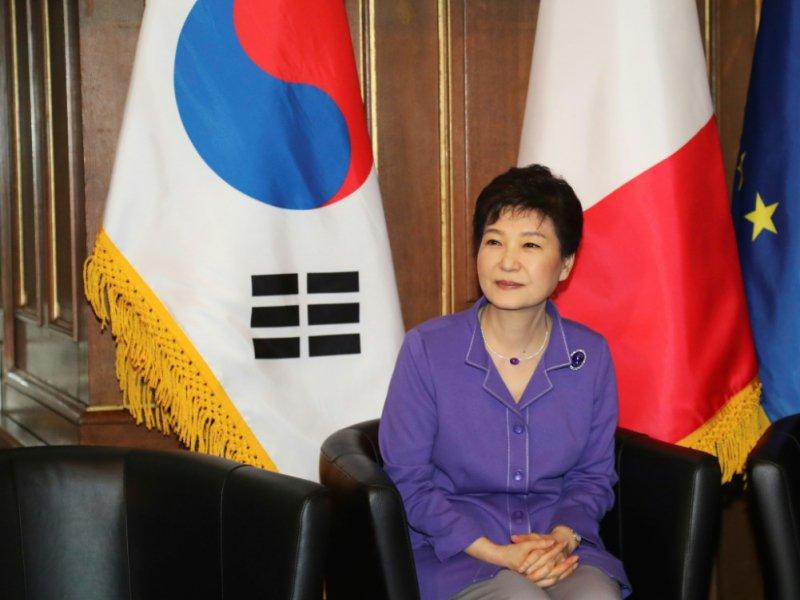 L'ex-présidente de Corée du Sud Park Geun-Hye, lors d'une visite à Paris, le 2 juin 2016 - JACQUES DEMARTHON [AFP/Archives]