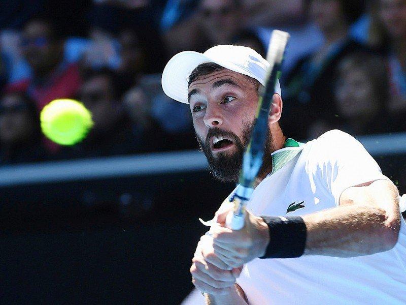 Le Français Benoît Paire lors du match contre l'Autrichien Dominic Thiem, le 21 janvier 2017 à Melbourne, lors du 3e tour de l'Open d'Australie    WILLIAM WEST [AFP]