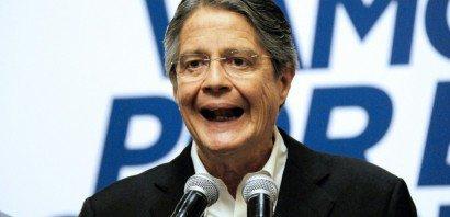 Le candidat de droite à la présidentielle en Equateur, Guillermo Lasso, Guayaquil, en Equateur, le 20 février 2017    MARCOS PIN MENDEZ [AFP]