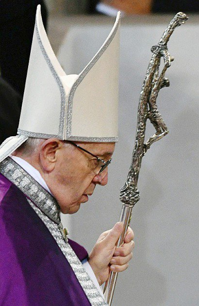 Le pape François, le 1er mars 2017 à l'église Sainte Sabina de Rome    Vincenzo PINTO [AFP]