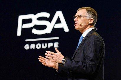 Le patron de PSA Carlos Tavares, le 7 mars 2017 au Salon de Genève - Fabrice COFFRINI [AFP]