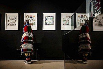 Ses toiles ont été exposées dans les galeries les plus prestigieuses de la planète, du British Museum de Londres au Centre Georges Pompidou à Paris ou à la Biennale de Lyon, en France. - GULSHAN KHAN [AFP/Archives]