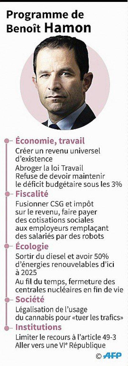Programme de Benoît Hamon - Sophie RAMIS, Aude GENET [AFP]