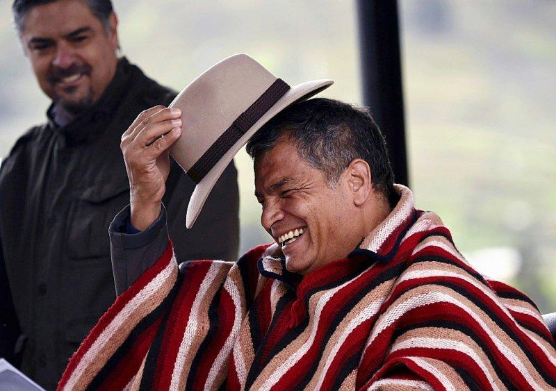 Le président de l'Equateur Rafael Correa à Zumbagua, en Equateur, le 11 mars 2017    RODRIGO BUENDIA [AFP]