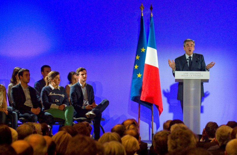 Francois Fillon, lors d'un meeting à Cournon-d'Auvergne, le 7 avril 2017    © Thierry Zoccolan [AFP]