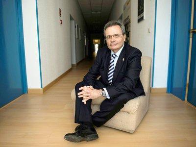 Rafael Matesanz, directeur et fondateur de l'Organisation nationale des transplantations (ONT), le 24 janvier 2017 à Madrid    PIERRE-PHILIPPE MARCOU [AFP]