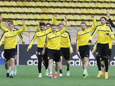 Le Borussia Dortmund, à Monaco, le 18 avril    VALERY HACHE [AFP/Archives]
