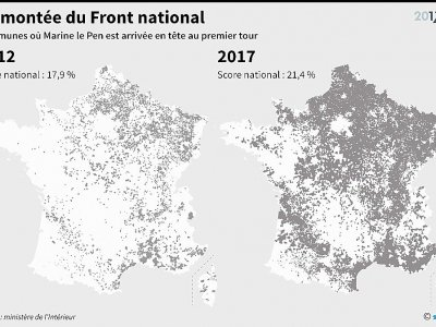 La montée du Front national