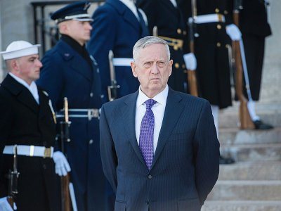 Le chef du Pentagone Jim Mattis, à Washington, le 16 mai 2017