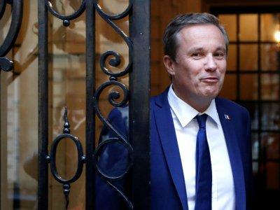 Nicolas Dupont-Aignan, le 28 avril 2017 à Paris    Patrick KOVARIK [AFP]
