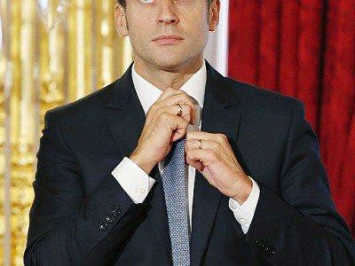 Emmanuel Macron, le 15 septembre 2015 à Paris - PATRICK KOVARIK [AFP/Archives]