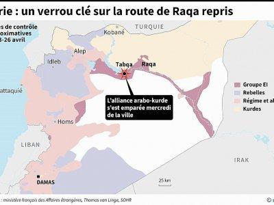 Syrie : un verrou clé sur la route de Raqa repris - AFP [AFP]