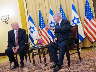 Le président américain Donald Trump et le président israélien Benjamin Netanyahu à Jérusalem, le 22 mai 2017    MANDEL NGAN [AFP]