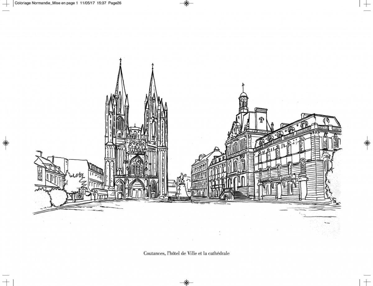 Coloriage De Foot Caen.Colorier La Normandie Une Activite Familiale