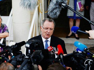 Le ministre de la cohésion des territoires Richard Ferrand, le 29 mai 2017 à Deauville (Calvados)    CHARLY TRIBALLEAU [AFP/Archives]