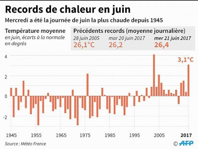Records de chaleur en juin - Simon MALFATTO [AFP]