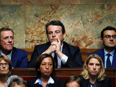 """Thierry Solère, du groupe """"constructifs"""" LR-UDI (C) à l'Assemblée nationale à Paris le 27 juin 2017    Patrick KOVARIK [AFP]"""