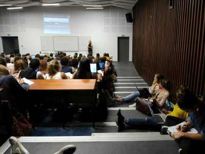 Cours de psychologie en amphi à l'Université Paul Valéry Montpellier 3 le 28 septembre 2015    © SYLVAIN THOMAS [AFP/Archives]