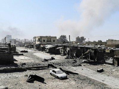 Une rue de l'est de Raqa, le 14 juillet 2017    BULENT KILIC [AFP/Archives]