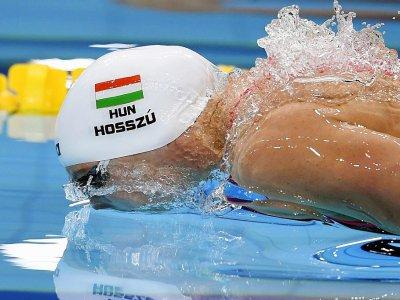 La Hongroise Katinka Hosszu lors de la finale du 200 m 4 nages, le 24 juillet 2017 - CHRISTOPHE SIMON [AFP]