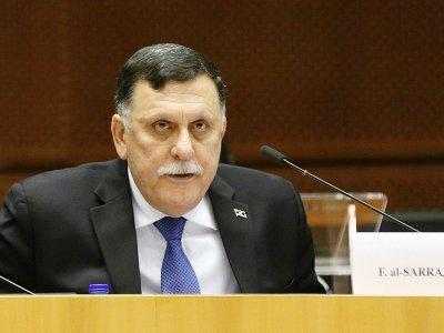 Le chef du gouvernement d'union nationale Fayez al-Sarraj, le 21 juin 2017 à Bruxelles    JOHN THYS [AFP/Archives]