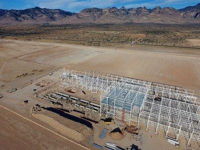 La structure d'une usine Ford, dans le désert de San Louis Potosi, au Mexique le 11 janvier 2017, que le constructeur automobile américain a cessé de construire préférant développer son industrie dans le Michigan    PEDRO PARDO [AFP/Archives]