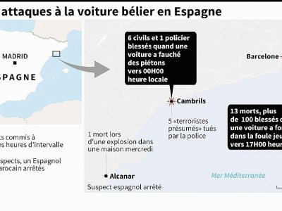 Deux attaques à la voiture bélier en Espagne    afp [AFP]
