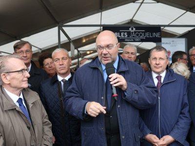 Stéphane Travert était sur les terres de sa circonscription à Lessay - Denis Bersauter