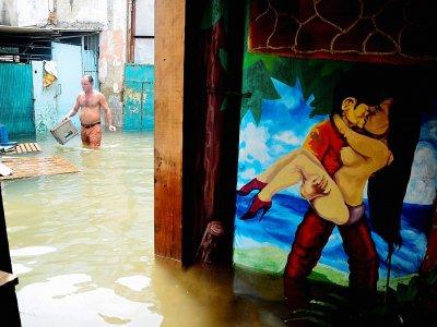 Une rue de La Havane inondée par l'ouragan Irma, le 10 septembre 2017    ABEL ERNESTO [AFP]
