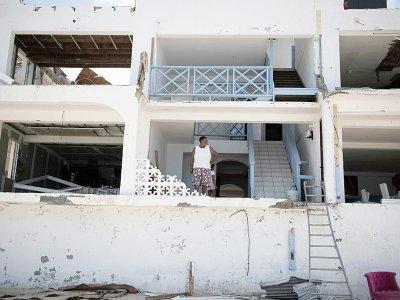 Une maison détruite par Irma à Grand-Case, dans la partie française de l'île de Saint-Martin, le 11 septembre 2017 - Martin BUREAU [AFP]
