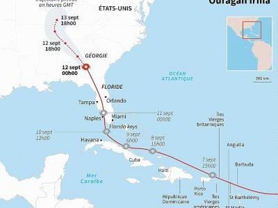 Trajectoire de l'ouragan Irma à travers la Floride et la Géorgie - AFP [AFP]