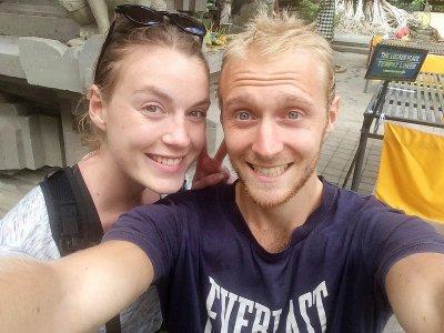 Margaux et Bryan sont partis pour un voyage de neuf mois.    Margaux et Bryan