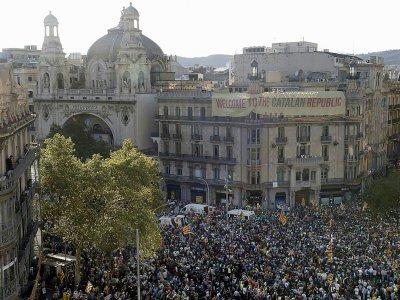 Manifestation pour l'organisation d'un référendum en Catalogne. Le 20 septembre 2017    PAU BARRENA [AFP]