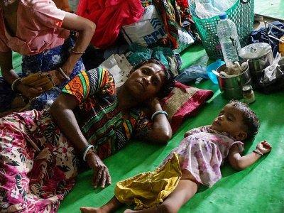 Des réfugiés hindous dans un camp à Sittwe, en Birmanie, le 22 septembre 2017    AIDAN JONES [AFP]