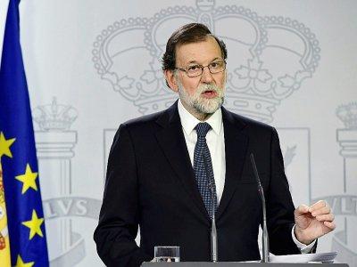 Le Premier ministre catalan Mariano Rajoy à MAdrid, le 1er octobre 2017    JAVIER SORIANO [AFP]