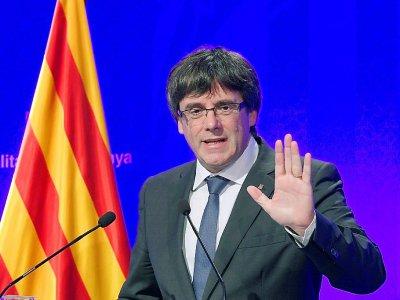 Le président catalan Carles Puigdemont à Barcelone, le 2 octobre 2017    LLUIS GENE [AFP]