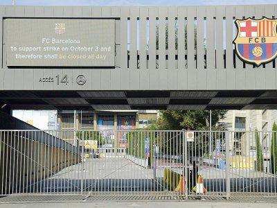Le stade du FC Barcelone fermé le 3 octobre 2017 en raison de la grève générale observée en Catalogne    Josep LAGO [AFP]