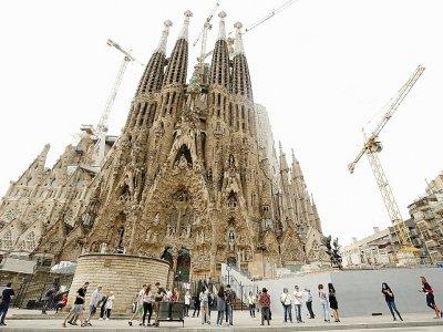La Sagrada Familia fermée lors de la grève en Catalogne, le 3 octobre 2017 à Barcelone    PAU BARRENA [AFP]