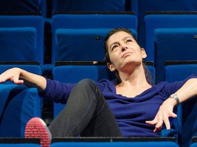 La comédienne Emmanuelle Laborit, le 2 octobre 2017 à Clermont-Ferrand    Thierry Zoccolan [AFP/Archives]