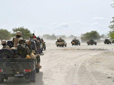 Un convoi de l'armée nigérienne à l'approche de Bosso, le 17 juin 2016    ISSOUF SANOGO [AFP]